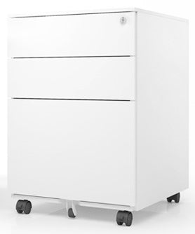 SHOWROOM CLEARANCE STOCK - EQ MOBILE PEDESTAL IN WHITE WITH SMALL DENTS WAS $248 EA NOW $99 SAVE 60%