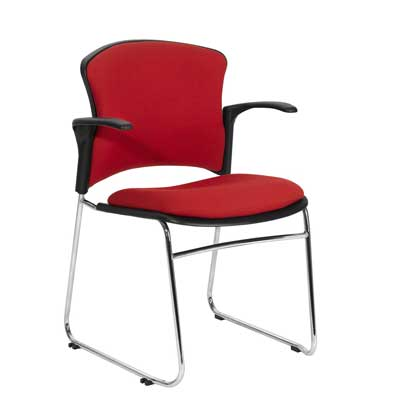 FOCUS UPHOLSTERED CLIENT ARM CHAIR