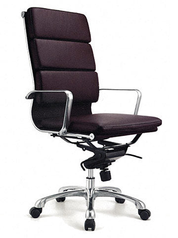 FORTE THICK PAD LEATHER HB CHAIR - FREE BOXED SHIPPING SYD METRO