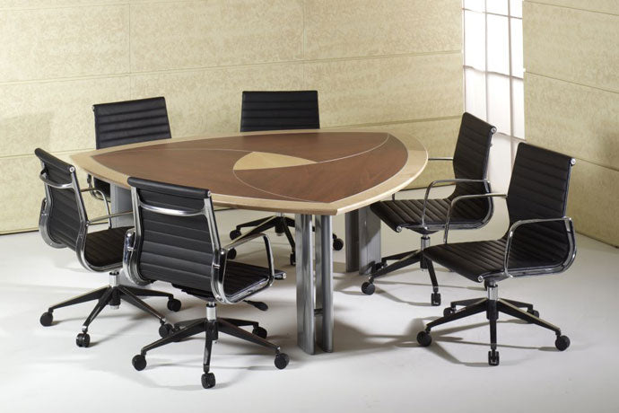 H9000 NATURAL TIMBER VENEER MILAN BOARDROOM TABLE