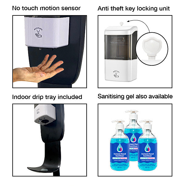AUTOMATIC 'NO TOUCH' HAND SANITISER DISPENSER