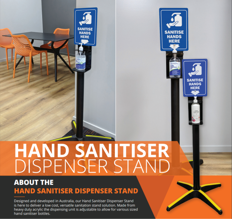 HAND SANITISER DISPENSER / TABLE BASE