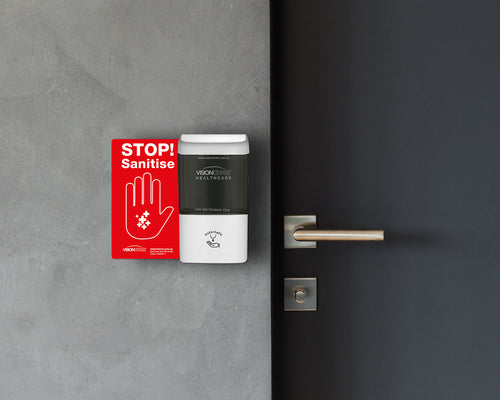 WALL-MOUNT 'NO TOUCH' HAND SANITISING DISPENSER
