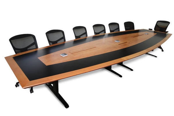 CONTOUR CUSTOM DESIGNED VENEER BOARDROOM TABLE