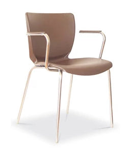 INOX CLIENT CHAIR WITH OR WITHOUT ARMS