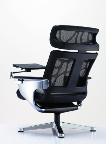 Awe Inspiring Nuvem Executive Lounge Chair With Tablet Ibusinesslaw Wood Chair Design Ideas Ibusinesslaworg