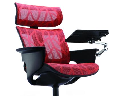 NUVEM EXECUTIVE LOUNGE CHAIR WITH NOTEBOOK STAND