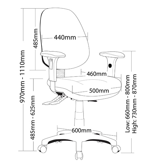P350 MB TASK CHAIR