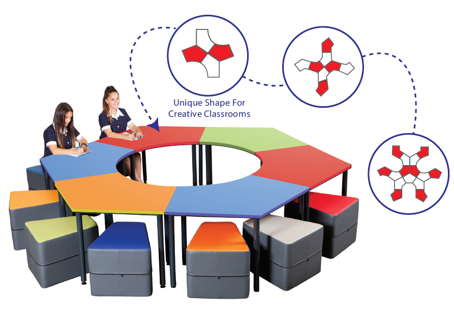 PENTAGON COLLABORATIVE TABLE