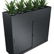 SLIDING DOOR CABINET WITH OPTIONAL PLANTER BOX