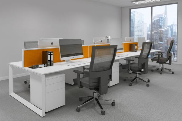 DIAMOND WORKSTATION SYSTEM IN WHITE
