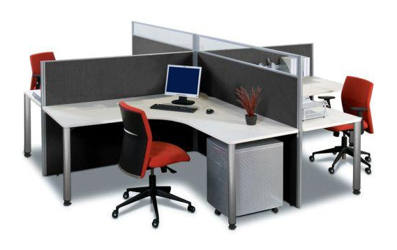 SLIMLINE 30 SCREENS AND 4 WAY WORKSTATIONS