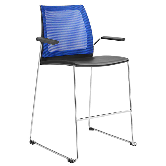 VINN MESH BACK STOOL WITH ARMS