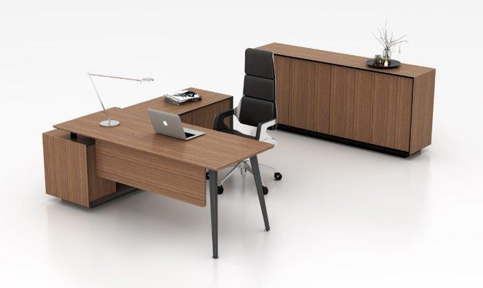 VLI MANAGER'S DESK WITH CABINET RETURN