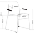 VINN MESH BACK CHAIR WITH ARMS