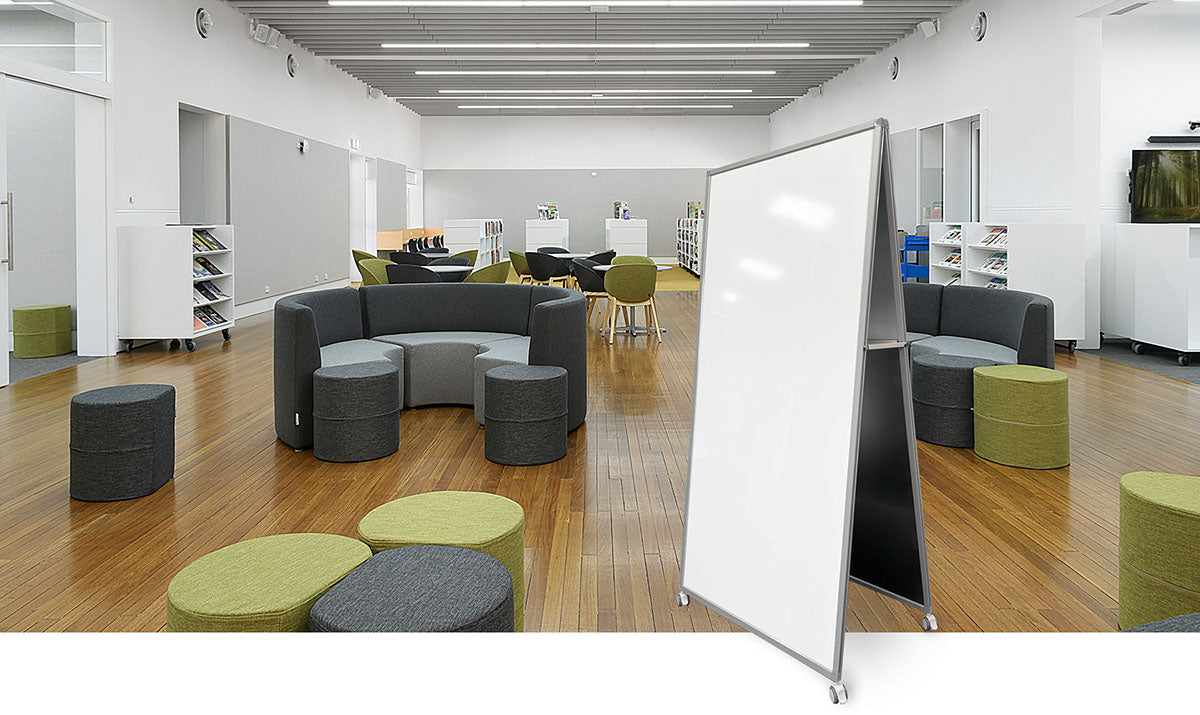 DOUBLE SIDED MOBILE WHITEBOARD