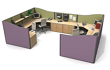 FLOOR STANDING SCREENS - WORKSTATIONS