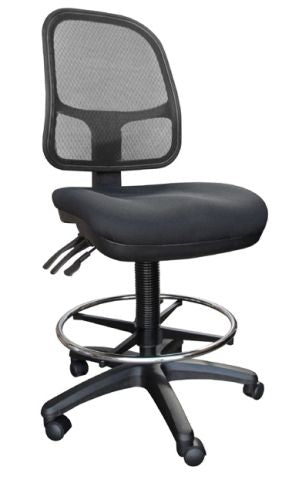KLASS CLERICAL MESH BACK CHAIR - OPTIONAL DRAFTING KIT