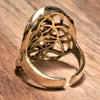 Double Seed of life Pure Brass Ring