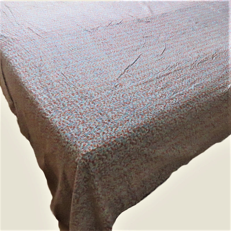 Ditsy Floral Kantha Bed Cover & Throw - 18