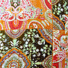 Orange Patterned Kantha Bed Cover & Throw - 22