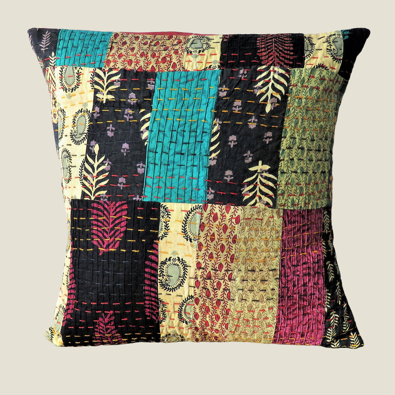 Recycled Patchwork Kantha Cushion Cover - 50