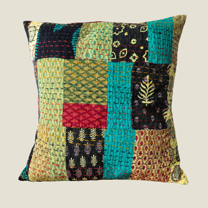 Recycled Patchwork Kantha Cushion Cover - 52
