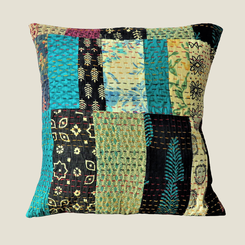 Recycled Patchwork Kantha Cushion Cover - 55