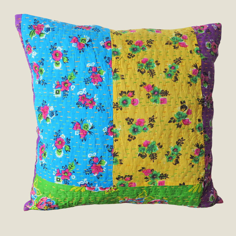 Recycled Patchwork Kantha Cushion Cover - 57