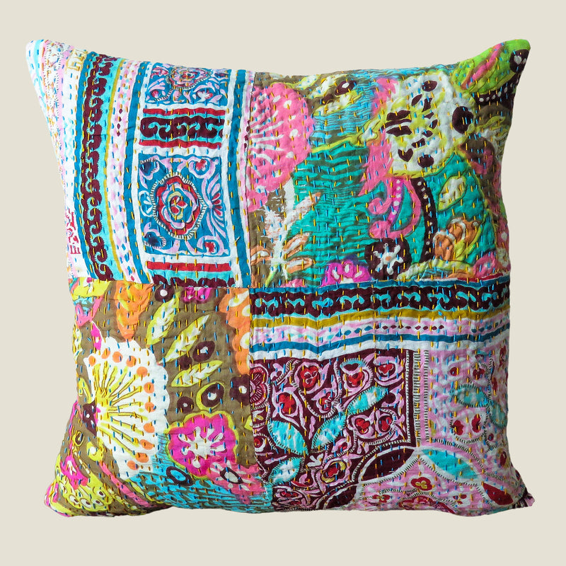 Recycled Patchwork Kantha Cushion Cover - 58