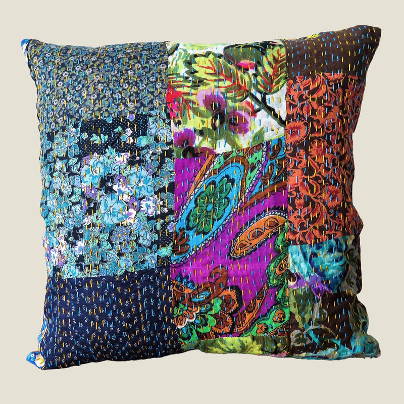 Recycled Patchwork Kantha Cushion Cover - 59