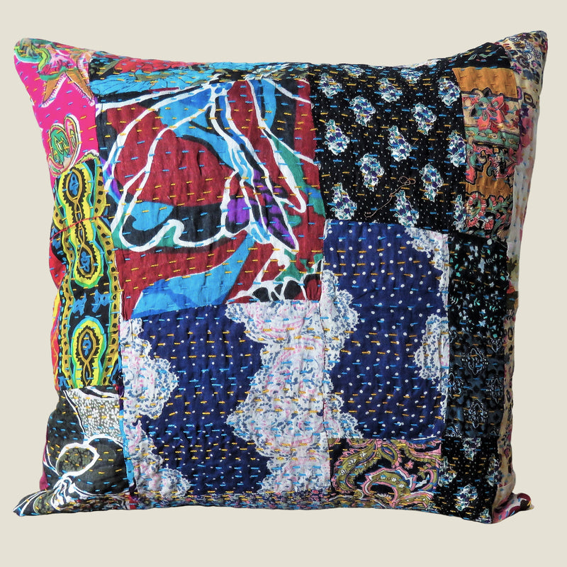 Recycled Patchwork Kantha Cushion Cover - 60