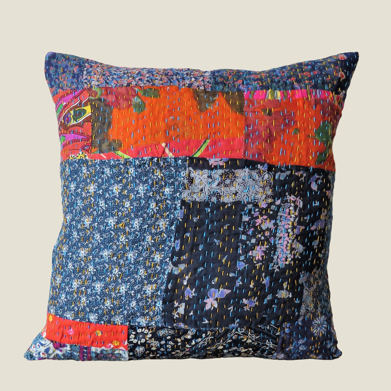 Recycled Patchwork Kantha Cushion Cover - 62