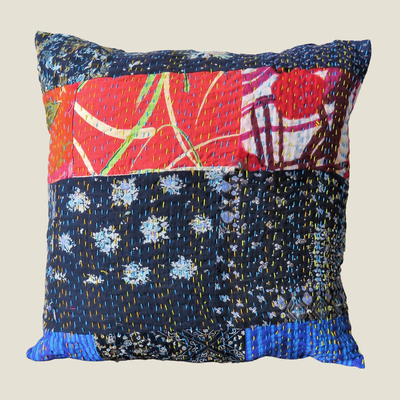 Recycled Patchwork Kantha Cushion Cover - 63