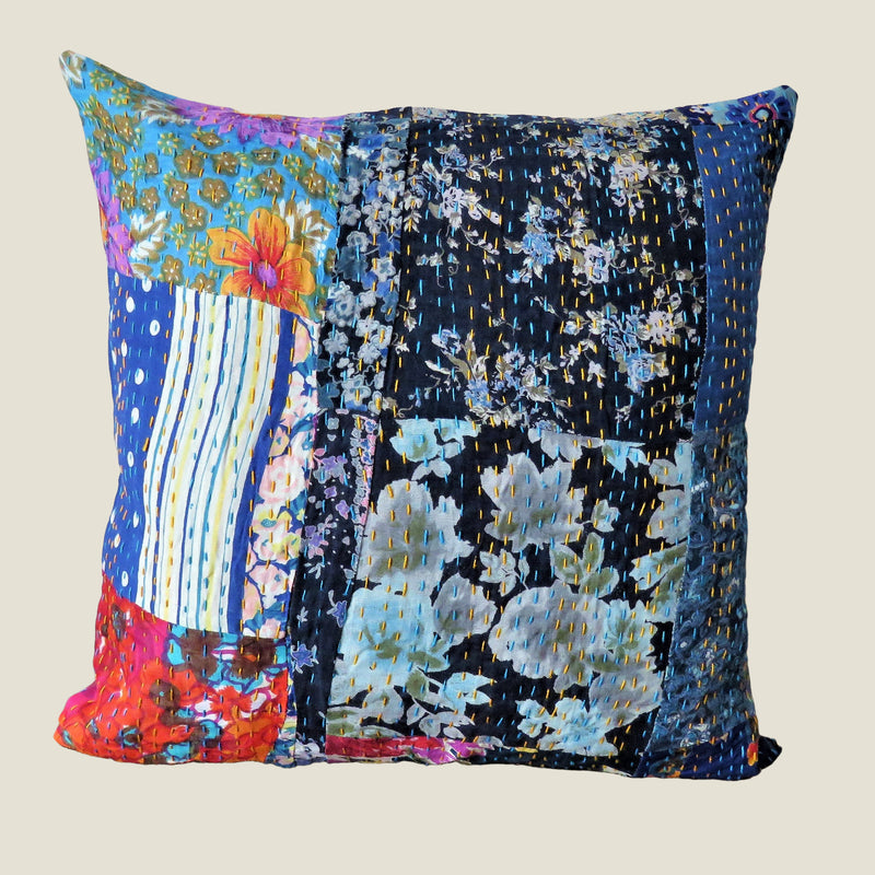 Recycled Patchwork Kantha Cushion Cover - 65