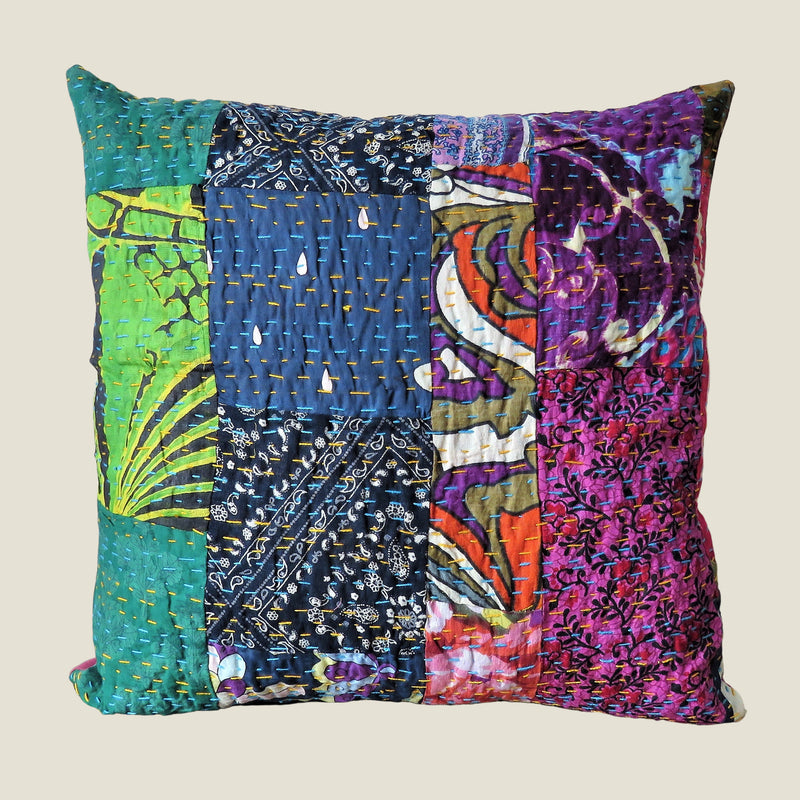 Recycled Patchwork Kantha Cushion Cover - 66