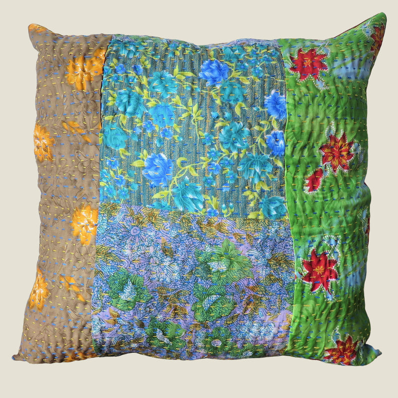 Recycled Patchwork Kantha Cushion Cover - 69