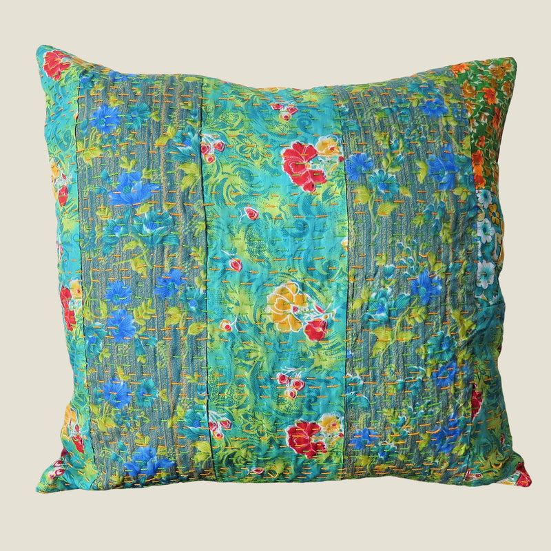 Recycled Patchwork Kantha Cushion Cover - 71