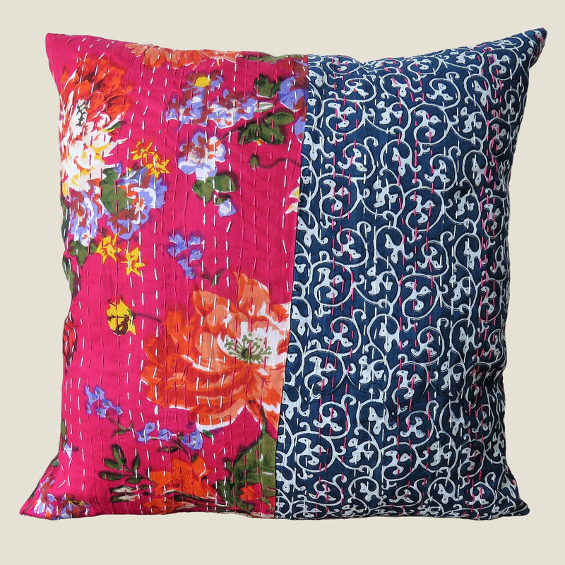 Recycled Patchwork Kantha Cushion Cover - 72
