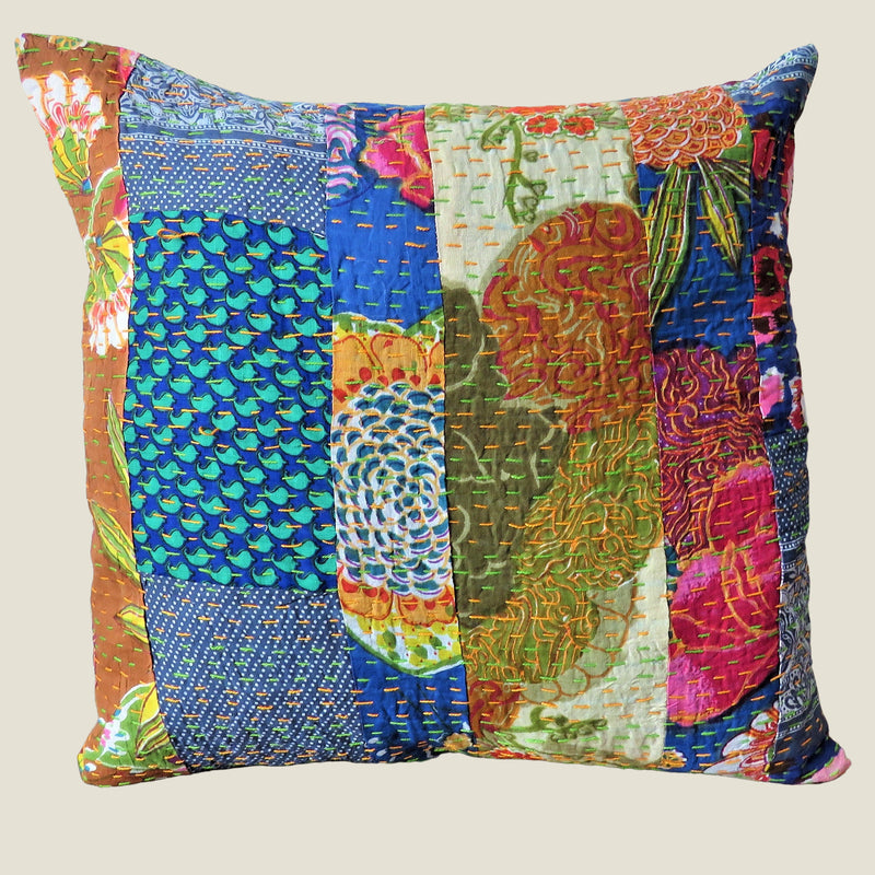 Recycled Patchwork Kantha Cushion Cover - 74
