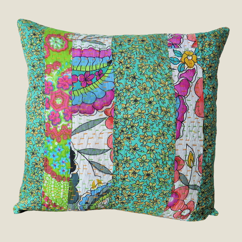Recycled Patchwork Kantha Cushion Cover - 75