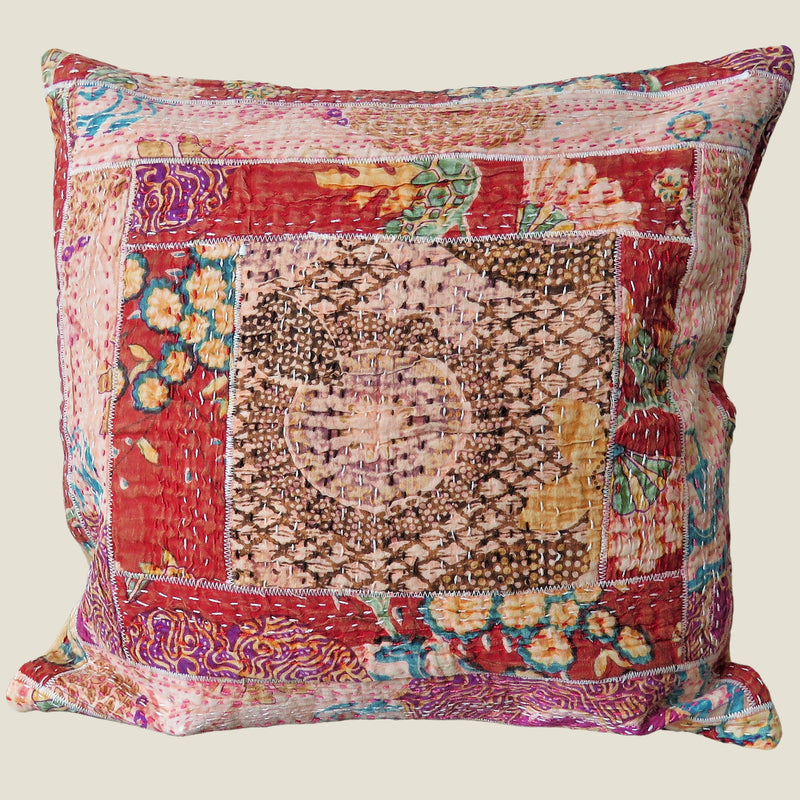 Recycled Patchwork Kantha Cushion Cover - 76