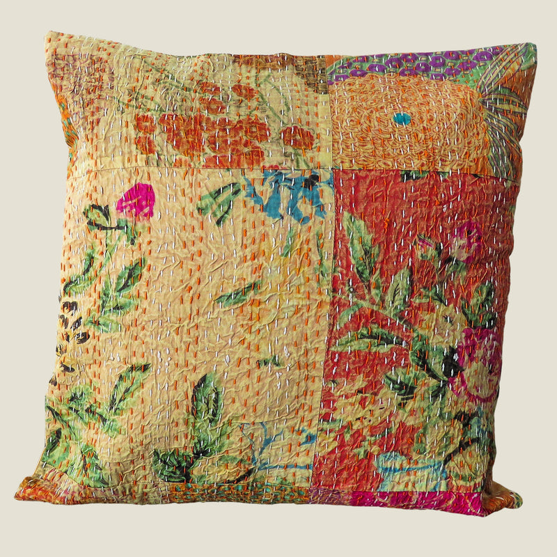 Recycled Patchwork Kantha Cushion Cover - 78