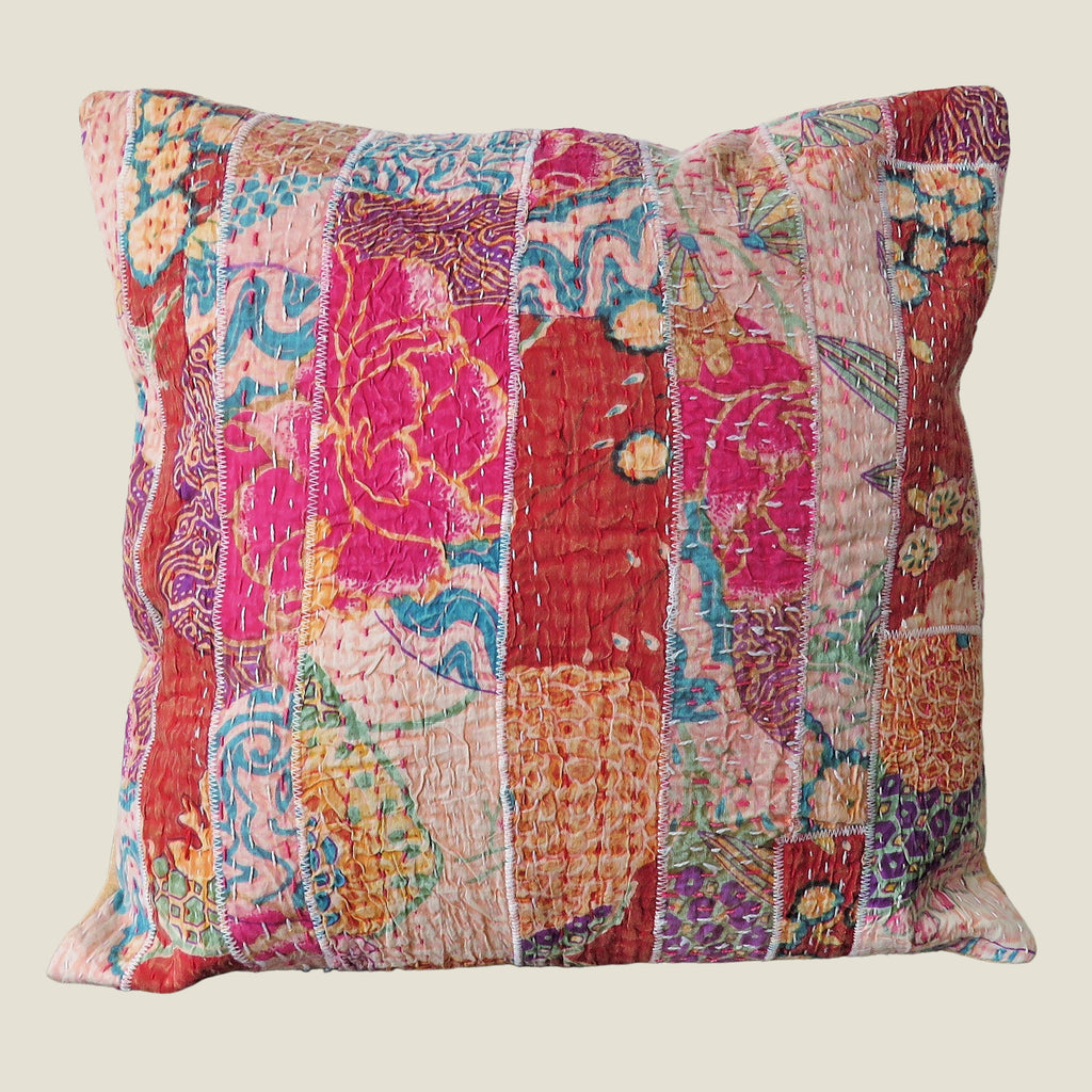 Recycled Patchwork Kantha Cushion Cover - 79