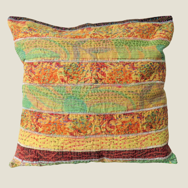 Recycled Patchwork Kantha Cushion Cover - 81