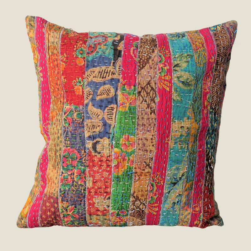 Recycled Patchwork Kantha Cushion Cover - 82