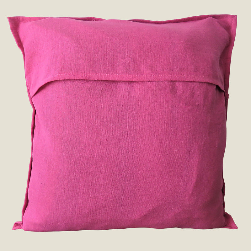 Recycled Pink Patchwork Cushion Cover - 03