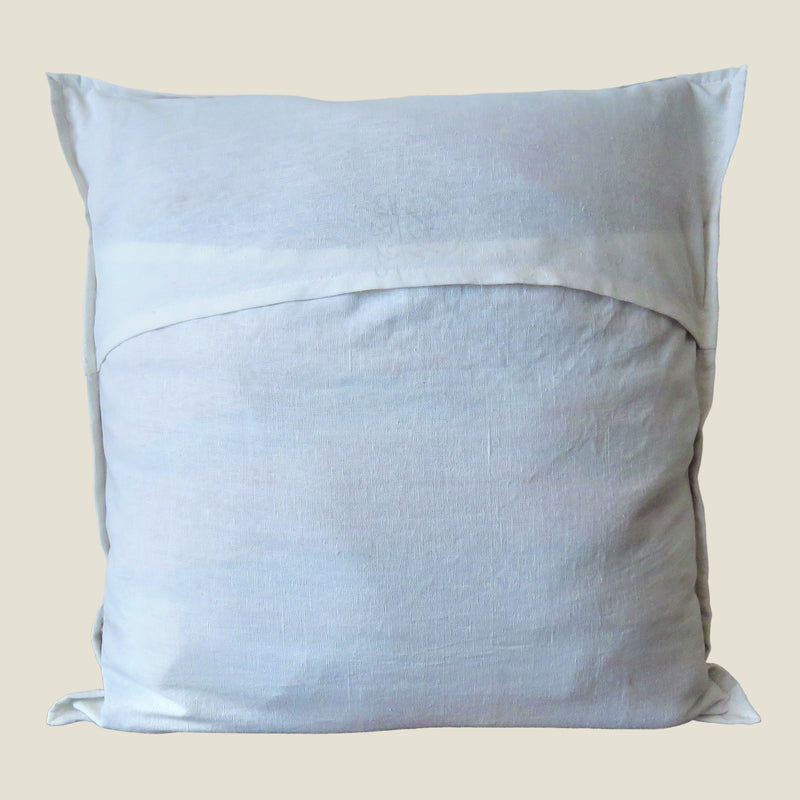 Recycled White Patchwork Cushion Cover - 03