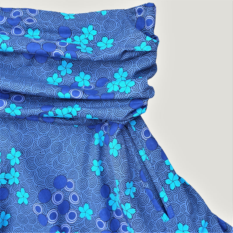 Blue Spiral Flower - Skirt & Dress