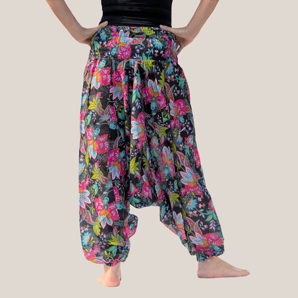 Black Mango Motif - Yoga Pants, Harem Trousers & Jumpsuit